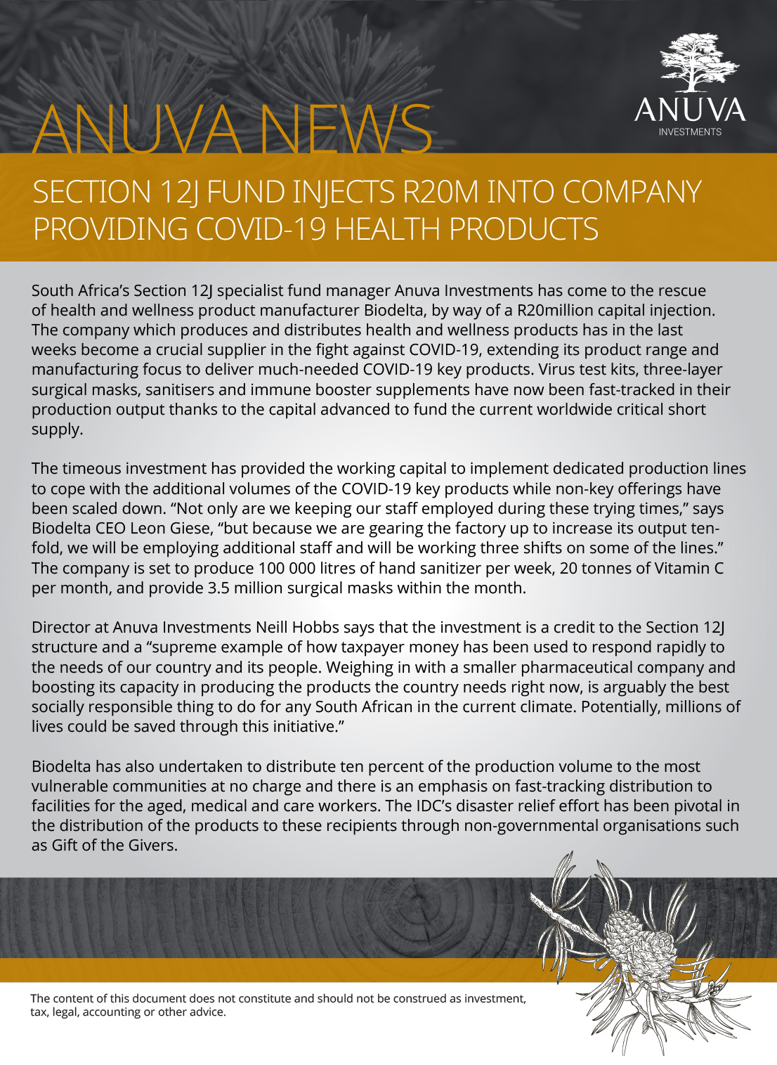 Section 12J fund injects R20m into company